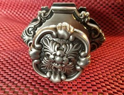 Period Brass Silver Colored Interior Door  Knobs with Back Plate