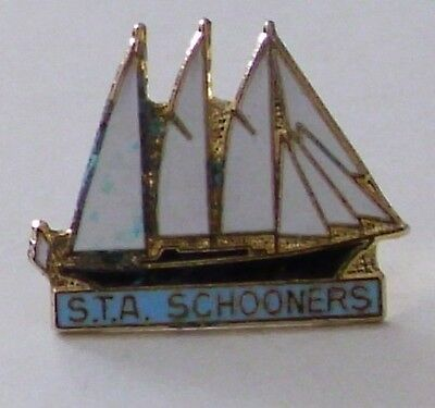 OLD S.T.A. SCHOONERS ENAMEL PIN BADGE - Sail Training Association / Tall Ships