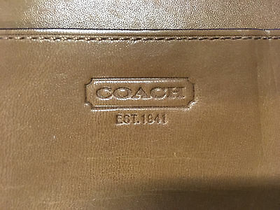 COACH Brown Leather Legal Pad Holder -Letter Size Folder in Very Good Condition