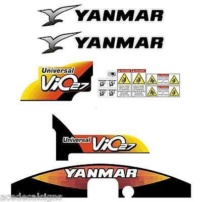 Yanmar VIO27-5 Decals Stickers Kit Set Mini Excavator