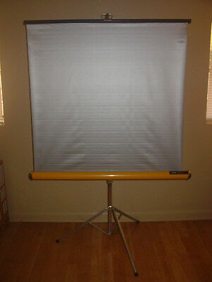 "Vintage Knox Panorama 40"" By 40"" Tripod Projector Screen Clean"