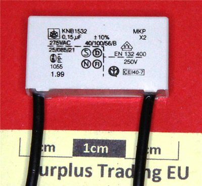 ISKRA KNB1532 0.15uF 275Vac Class X2 RFI Suppression Capacitor