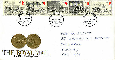 31 July 1984 Royal Mail Coaches Royal Mail First Day Cover Kingston Ut Fdi