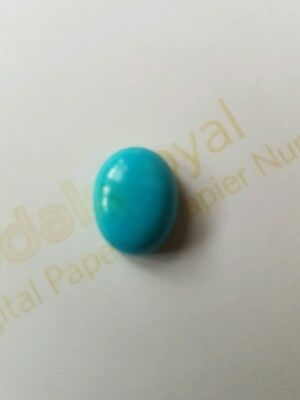 Turquoise (Firozah)  Cab.oval Real &genuine Gemston. 14× 11. 6.58 Cts.