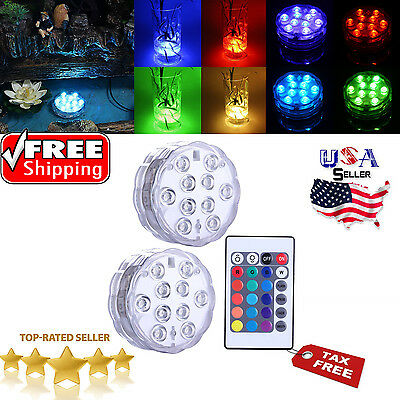 Pool Light Swimming LED Underwater Remote RGB Control Multi Color Fountain Spa 2