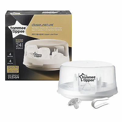 Tommee Tippee Closer to Nature Microwave Steam Steriliser Holds four Bottles