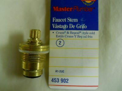 Master Plumber Cold Faucet Stem A1-2UC - For Crane & Repcal Style Cold - New