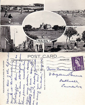 1965 Multi Views Of Nairn Nairnshire Scotland Real Photograph Postcard