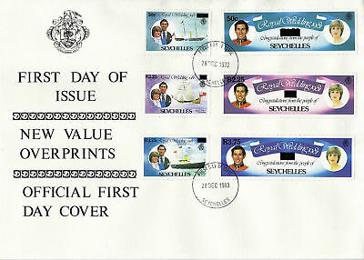 Seychelles 1981 Royal Wedding Set First Day Cover Dated 28 December 1983