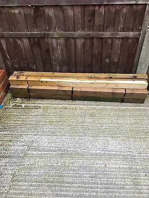 8 X WOODEN FENCE POSTS 5ft High 3inches SQUARE