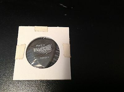 KILLSWITCH ENGAGE ( MIKE D ) STAGE USED Signature tour pick. --ULTRA RARE !!!!!!