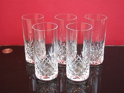 5 crystal hiball high ball glasses collection only SE9 3JY