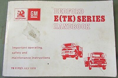 Bedford E Tk Series Handbook Not Filled Out 1978