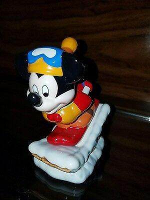 Mickey Down Hill Sled Salt and Pepper
