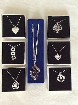 Job Lot Silver Necklaces All Brand New In Gift Box