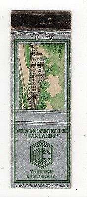 Trenton Country Club New Jersey, Advertising Vintage Matchbook Cover Sep15