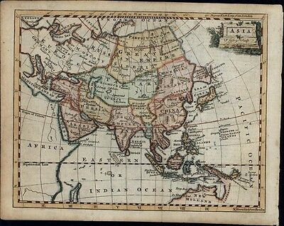 Asia Tibet Mogul Empire Persia Arabia New Holland Tartary China 1758 antique map