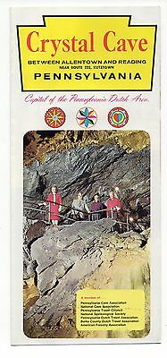 Crysal Cave, Kutztown, Pennsylvania Vintage Travel Brochure, Mar