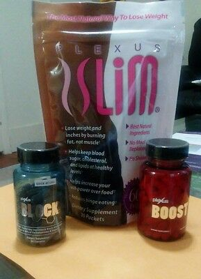 Plexus Slim 30 Day Supply Pink Drink Weight Loss Combo Accelerator+ Carb Block..