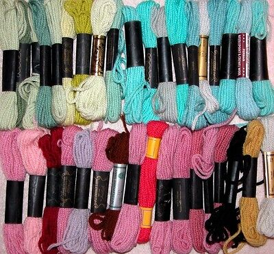 36 Hanks Paragon + Wool 3ply Persian Needlepoint Crewel Embroidery Yarn Lot