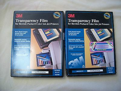 "3M CG3460 Transparency Film HP Color Ink Jet Printer 8.5 x 11"" 73 Pages"