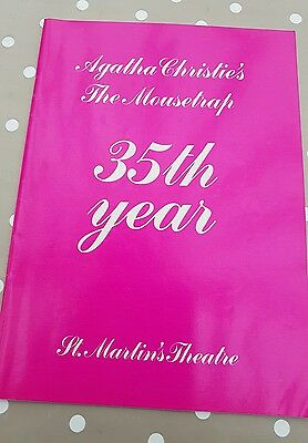 AGATHA Christies the Mousetrap 35th year theatre programme St Martins Theatre