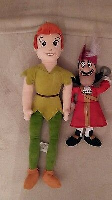 Peter pan and Captain hook soft toys