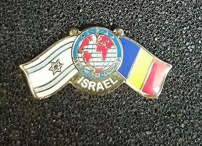 Israel Idf Badge Pin Flags Friends Israel With Romania