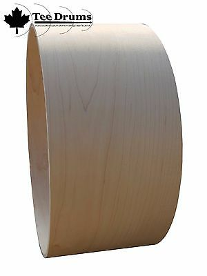 """100% Maple Snare Drum Shells (10 ply) 13"""" and 14"""" (various size options)"""