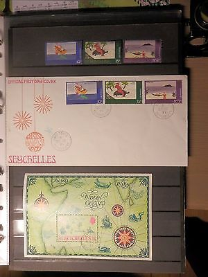 Seychelles 1971 - Set, FDC and souvenirsheet, used