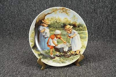 """Vintage Edwin M. Knowles Office Hours 8.5"""" Porcelain Collector Plate C. 1984"""