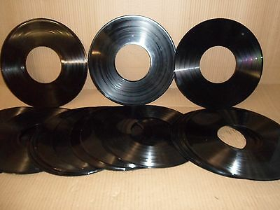 Vinyl Record LP rings with centre holes suitable for upcycling craft creations