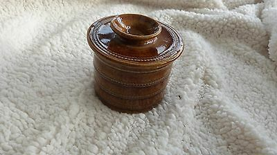 Vintage French Pottery Bell Butter Keeper VGC