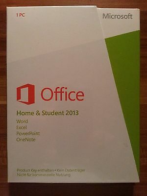 Microsoft Office Home and Student 2013 / Vollversion / PKC / 79G-03604 *NEU*