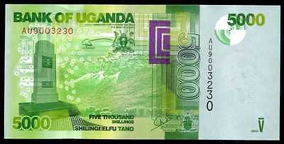 UGANDA  -  5000  SHILLINGS  2013  Prefix AU -  P 51 NEW  Uncirculated Banknotes