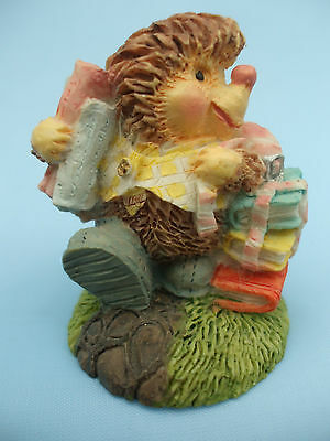 Collectable Hedgehog Ornament Carrying Books