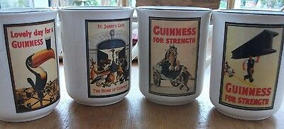 4 Guinness Collectable Mugs