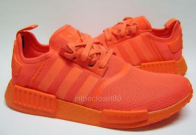 half off ad292 d8519 Adidas NMD R1 Triple Red Mono Coloured Boost Sole Mens Trainers S31507  Solar Red
