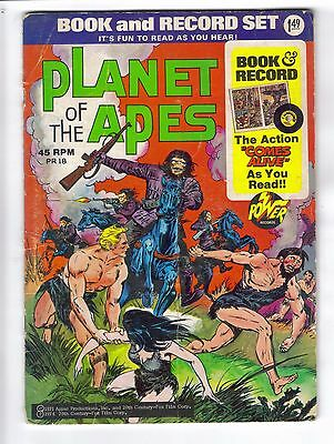 Planet of the Apes Book and Record Power Records PR 18 1974