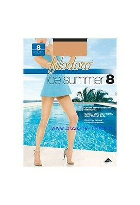 Gruppo 3 collant Filodoro art Ice Summer 8 den.