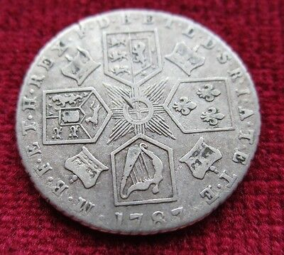 King George Iii Silver Sixpence 1787 Great Britain Coin