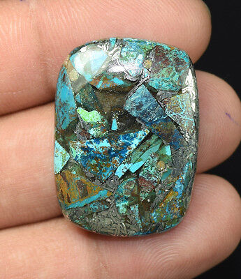 28.95  Cts. Natural Lovely  Silver  Azurite  Cushion Cab Gemstones