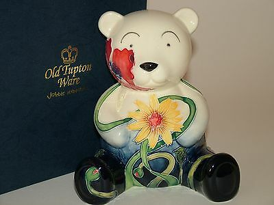 Old Tupton Ware Teddy Bear Money Box - Summer Meadow Collectable Porcelain. Rare