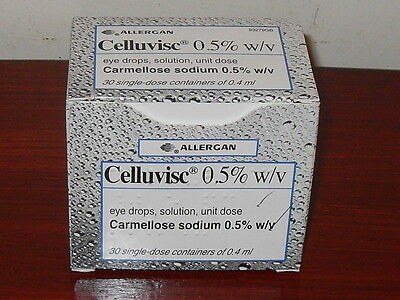 Celluvisc Carmellose Sodium 0.5%W/v 30x0.4ml Single-dose Eye Drop Containe 07/17