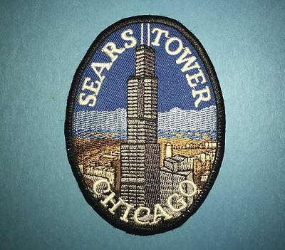 Sears Tower Chicago IllinoisHat Jacket Biker Vest Backpack Travel Patch Crest