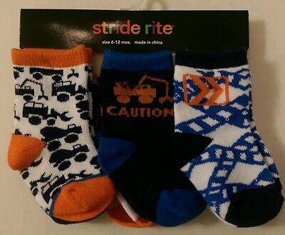 Boy's Toddler New 6 Pair Stride Rite Low Cut Socks Size 6-12 Months 9054