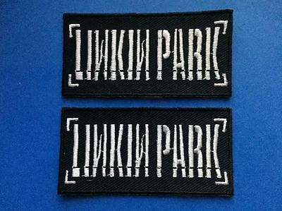 2 Lot Linkin Park Rock Music Iron On Hat Jacket Backpack Hoodie Patches Crests