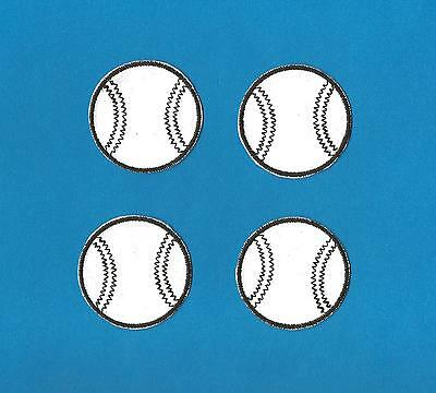 Vintage 4 Lot Little League Baseball Iron On Hat Jacket Patches Crests