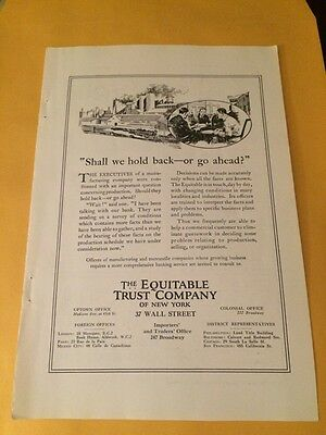 NICE!- 1923 Print Ad For The Equitable Trust Co.