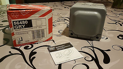 MK Masterseal K56480 1 Gang 13A Unswitched Socket IP56 Grey Switch